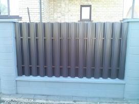 Skardiniai metaliniai tvoros elementai,tvoralentes