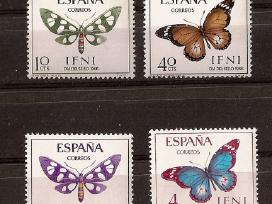 """Pard Ispanijos Ifni ir Rio Muni ženklus """"fauna"""""""
