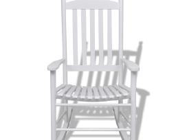 Balta Medinė Supamoji Kėdė - vidaxl