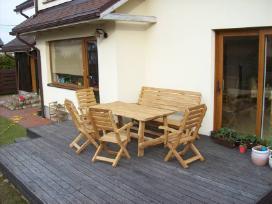terasos baldai iš ąžuolo