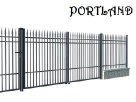 Metaliniai kiemo vartai tvoros: