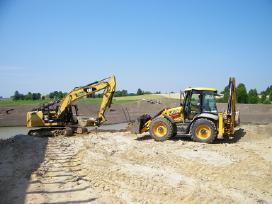 Tvenkinių ir kanalų kasimas ir valymas aikštelės