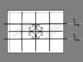 Apsauginės Grotos Langams 69 x 114 cm - vidaxl