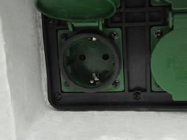 4 Kištukiniai Lizdai Sodui Baltoje Dėžutėje