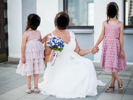 Nuostabi siūta vestuvinė suknelė 44-46 dydžio