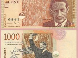 Kolumbija 1000 Peso 2014m. P456 Unc