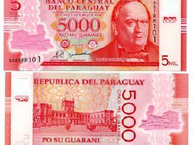 Paragvajus 5000 Guaranies 2011(2013)m. P234 Unc