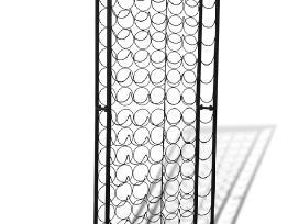Metalinis Stovas 108 Vyno Buteliams - vidaxl