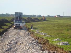 Privažiavimo kelių statyba