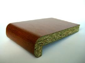Spalvotosbaltos palangės ( medžio drožlių ir pvc)
