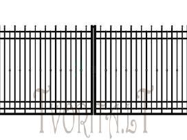 Metalinės tvoros vartai varteliai, automatika