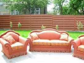 Minkštų baldų remontas restauravimas aptraukimas