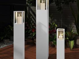Mediniai Balti Stovai Žvakėms, vidaxl