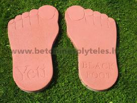 Plytelės takeliams, pėdutės, 45x45cm, 60x15cm