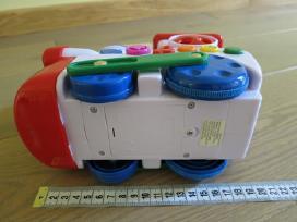 Muzikinis traukinukas važiuoja, groja, šviečia