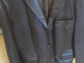 Parduodu naują odinį rudą švarką