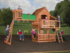 Lauko aikštelė supynes vaikams kedro mediena