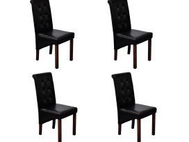 4 Valgomojo Kėdės Juodos vidaxl
