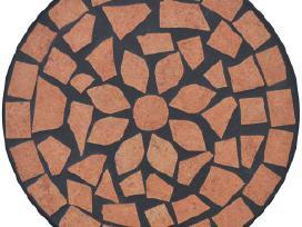 Stovas Augalams su Terakotos Spalvos Mozaika