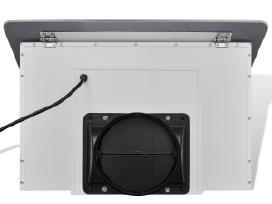 Baltas Garų Surinktuvas su Ekranu, 600 mm, vidaxl