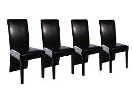 Keturios Juodos Valgomojo Kėdės, vidaxl