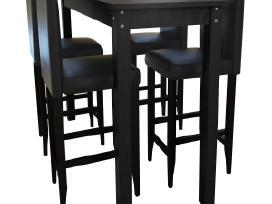 Baro Stalas su 4 Baro Kėdėmis vidaxl