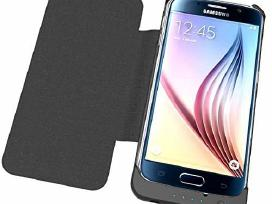 Samsung S6 Edge dėklas su įmontuota baterija