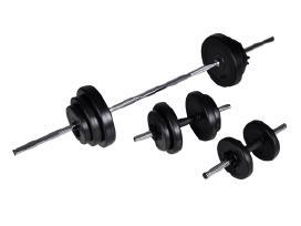 Štanga + 2 hanteliai 305 kg rinkinys vidaxl