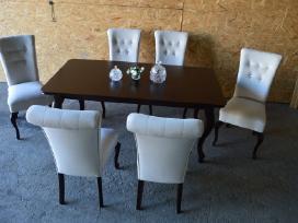 Naujas klasikinis prailginamas stalas ir 6,8 kėdės
