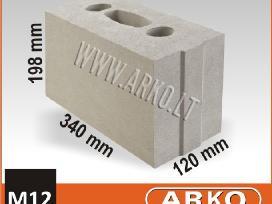 Akyto betono, keraminiai, silikatiniai blokeliai