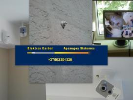 Elektros darbai, signalizacija, kameros Pigiau