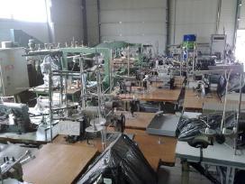 Perkame siuvimo pramonės įrengimus.