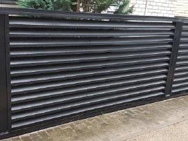 Tvoros elementai iš lankstytų plieno profilių