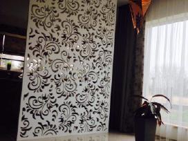 Ažūrinės pertvaros, dekorai, frezavimas