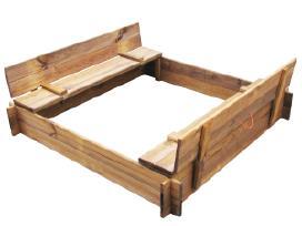Kvadratinė Impregnuotos Medienos Smėlio Dėžė