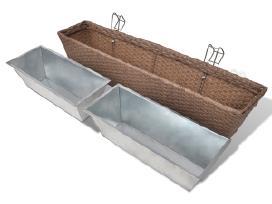 2 Vazonų Balkonui Rinkinys, 80 cm, vidaxl