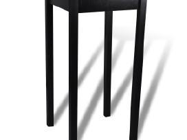 Baro Stalas su 2 Juodomis Baro Kėdėmis, vidaxl