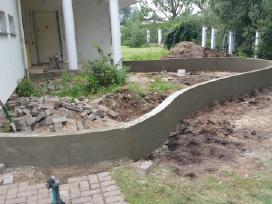 Tvoros pamatai.medines tvoros.terasu betonavimas