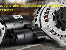 Starterių generatorių remontas nuo 3-jų eur.