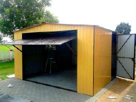 Garažai su dažyta skarda