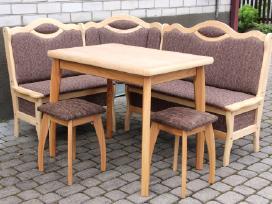 """Virtuvinis kampas """"Akis"""", stalas, taburetės"""