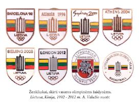 Perku olimpiadu ženkliukus