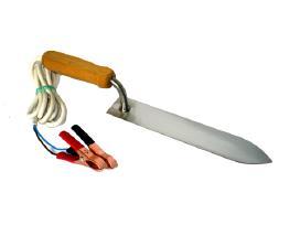 Elektrinis nerūdijančio plieno atakiavimo peilis.