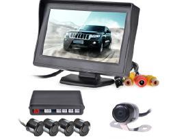 Automobilio parkavimosi sistema,parktronikas, galinio vaizdo kamera