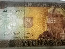 1 Litas 1994m, banknotas, Žemaitė, bankinis stovis