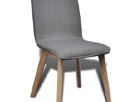 4 Ąžuolinės, Audiniu Dengtos Valgomojo Kėdės
