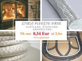Stiklo virvė vermikulitas katilams židiniams