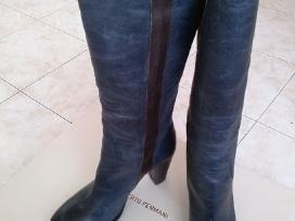 Mėlyni odiniai Alberto Fermani ilgaauliai