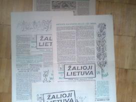 <Zalioji Lietuva>1989m.1-12 nr.ir kiti laikrasciai