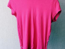 Moteriški rožiniai marškinėliai L dydis